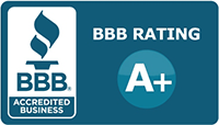 better business bureau ranking logo A+ links to BBB page